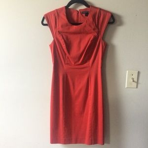 French Connection Bodycon Wiggle Stretch Red Dress